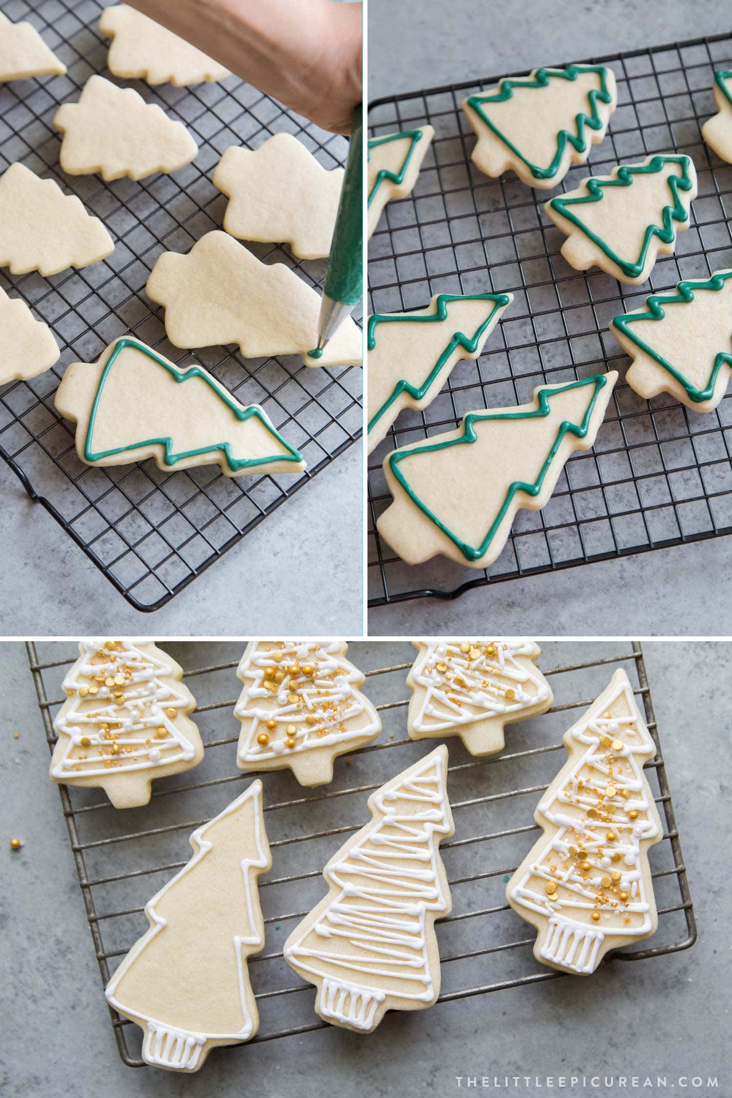 No Chill Sugar Cookies Christmas Trees