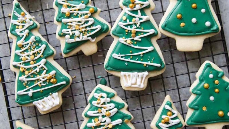 No Chill Sugar Cookies Christmas Trees