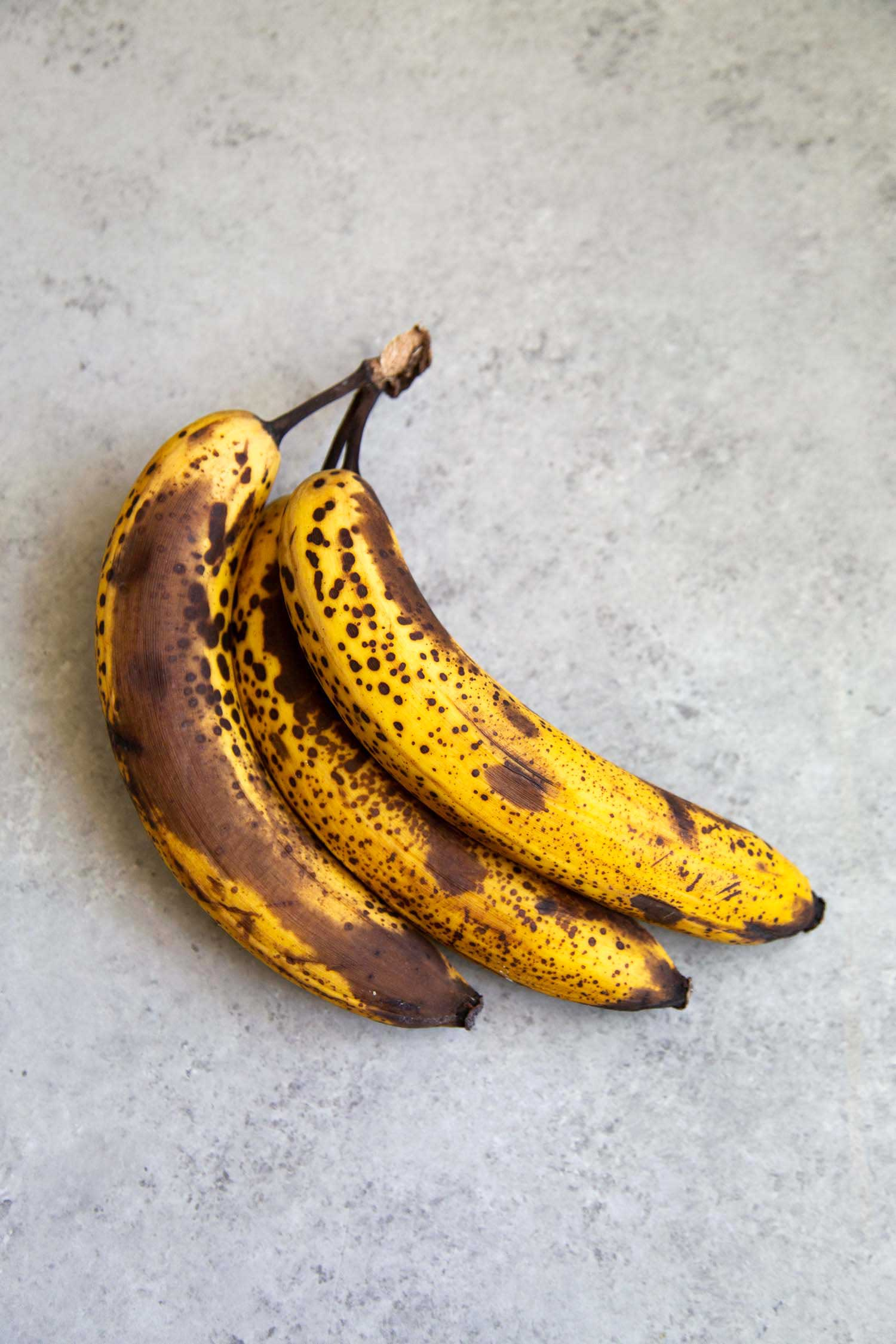 Ripe bananas used for baking should be spotty.