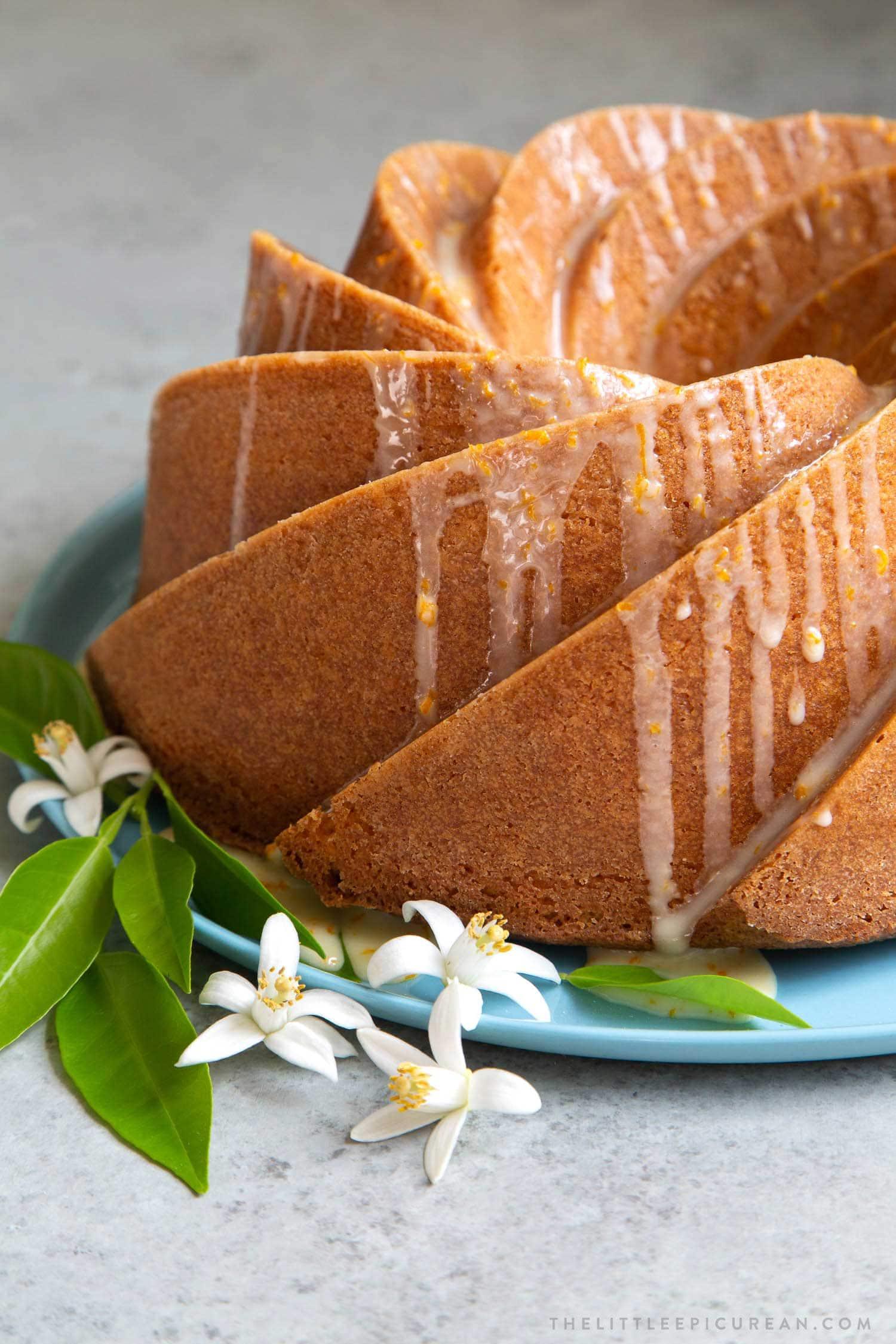 Glazed Orange Blossom Bundt Cake