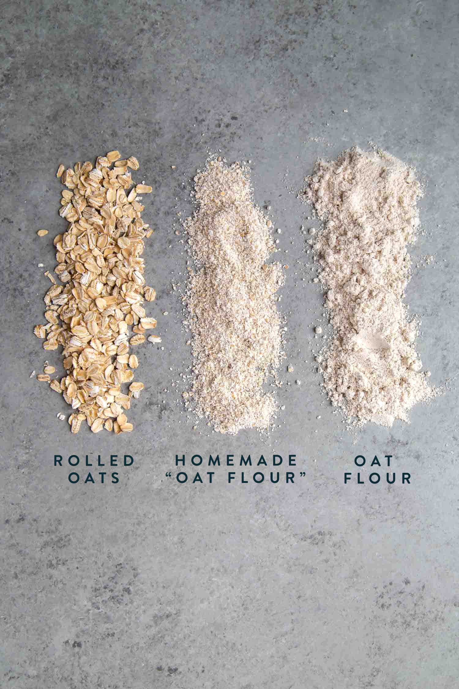 How to make oat flour using rolled oats or old fashioned oats