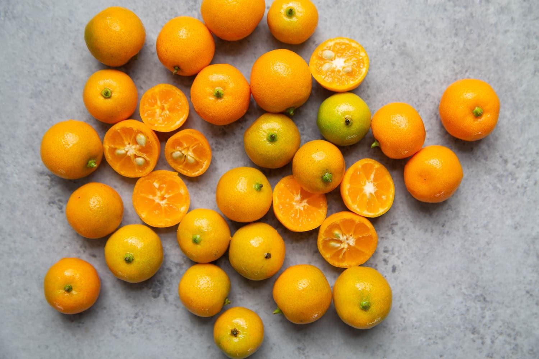 Fresh calamansi fruit used for calamansi margarita