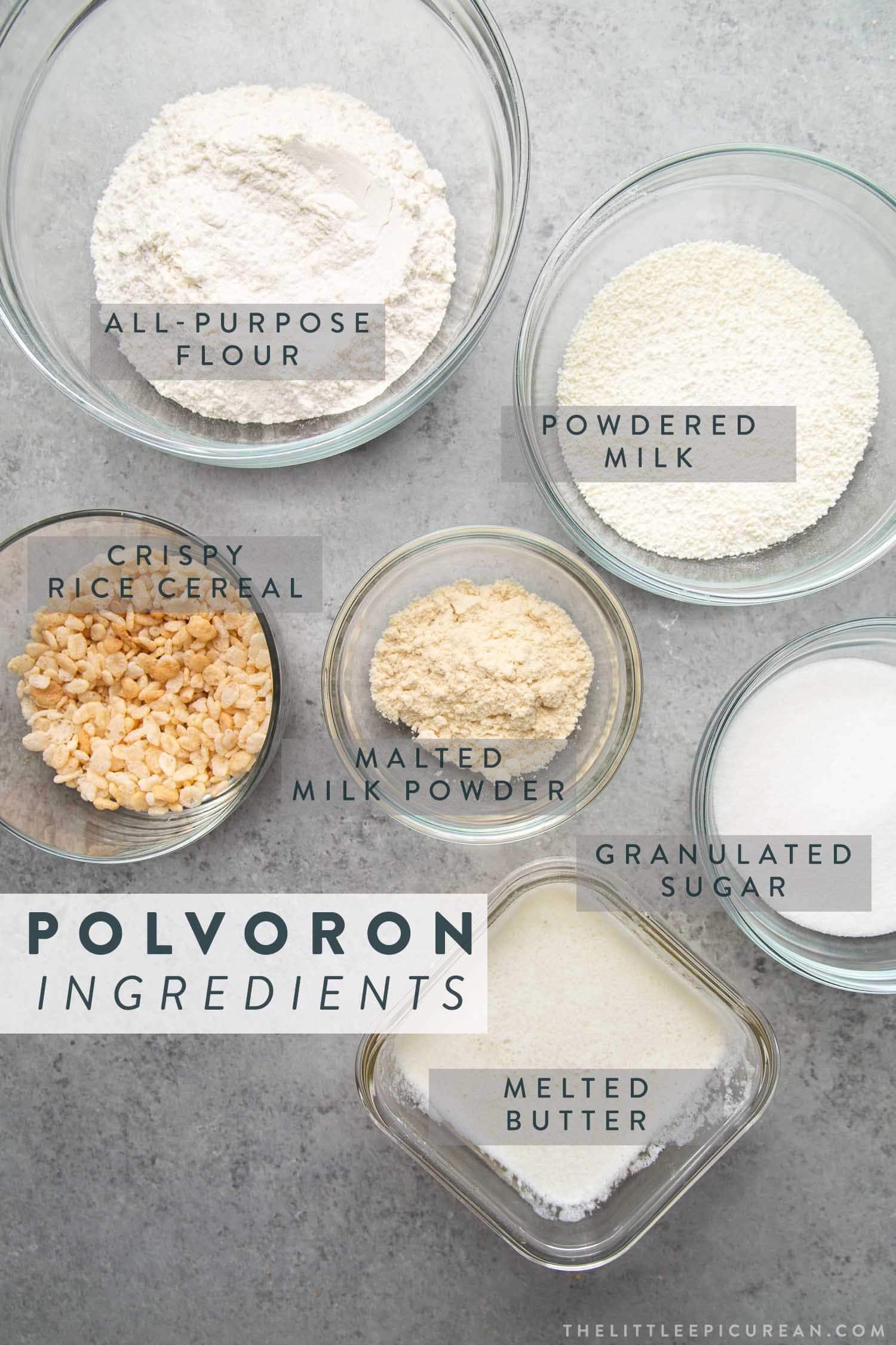Filipino Polvoron Ingredients