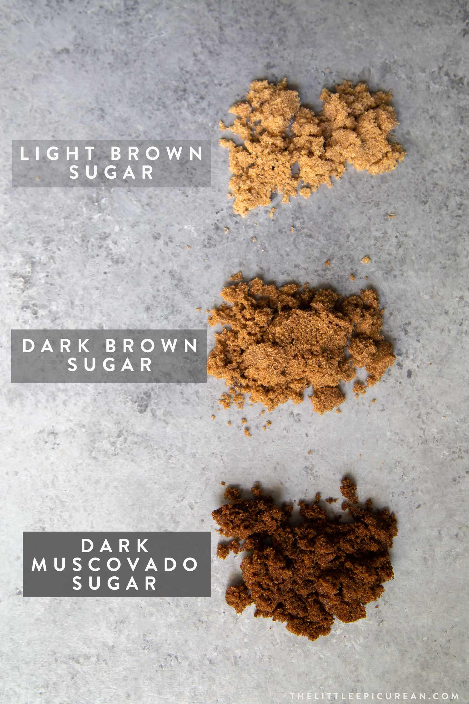 Different types of brown sugar to sweetened tapioca pearls