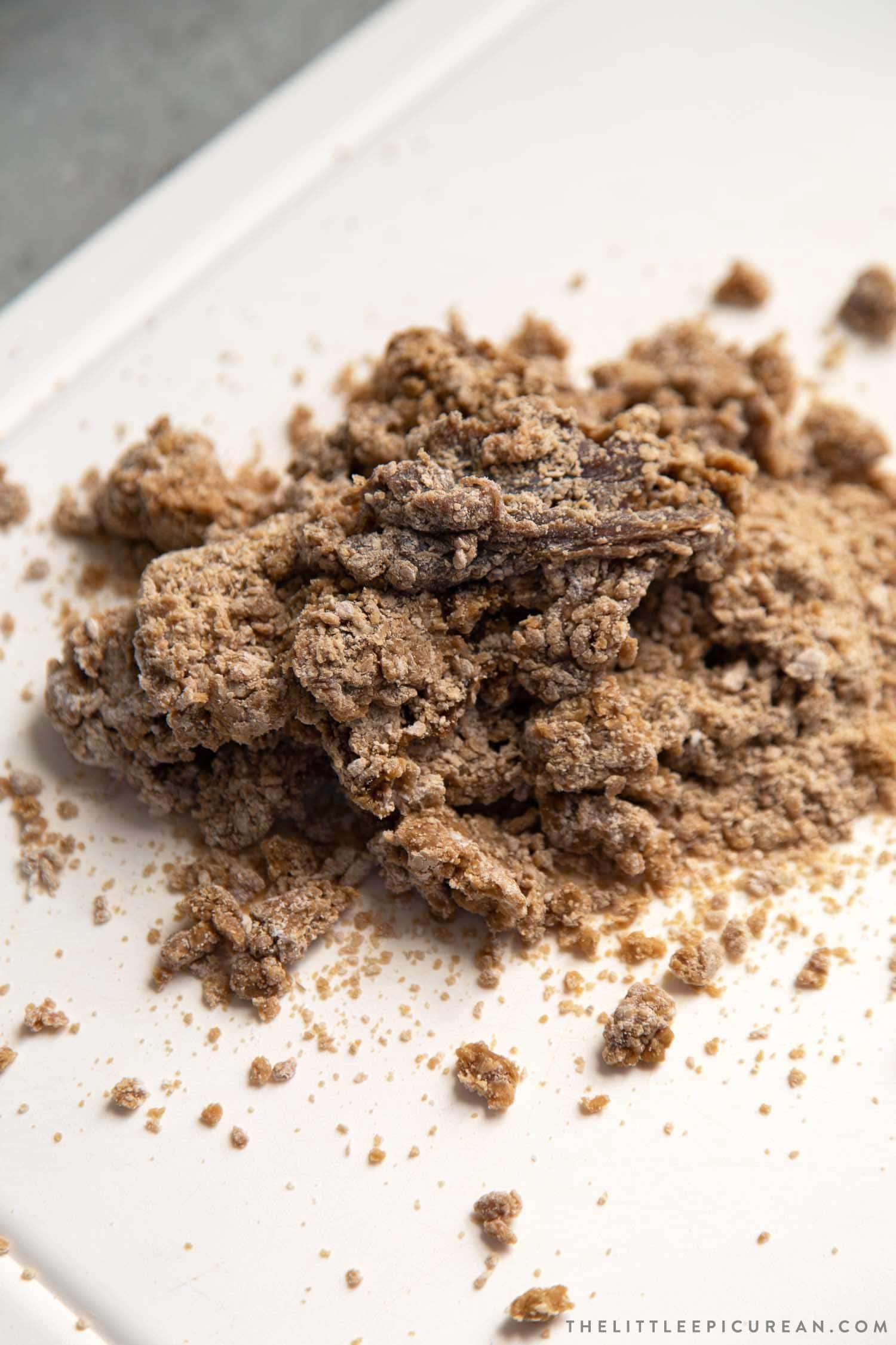 tapioca dough to make brown sugar boba