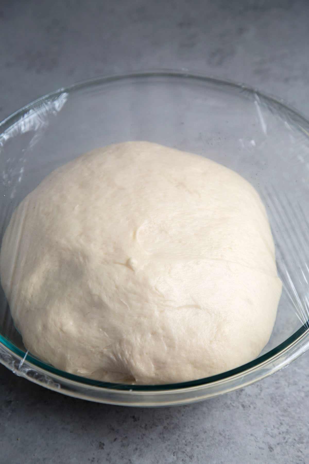 Milk Bread Dough after proof