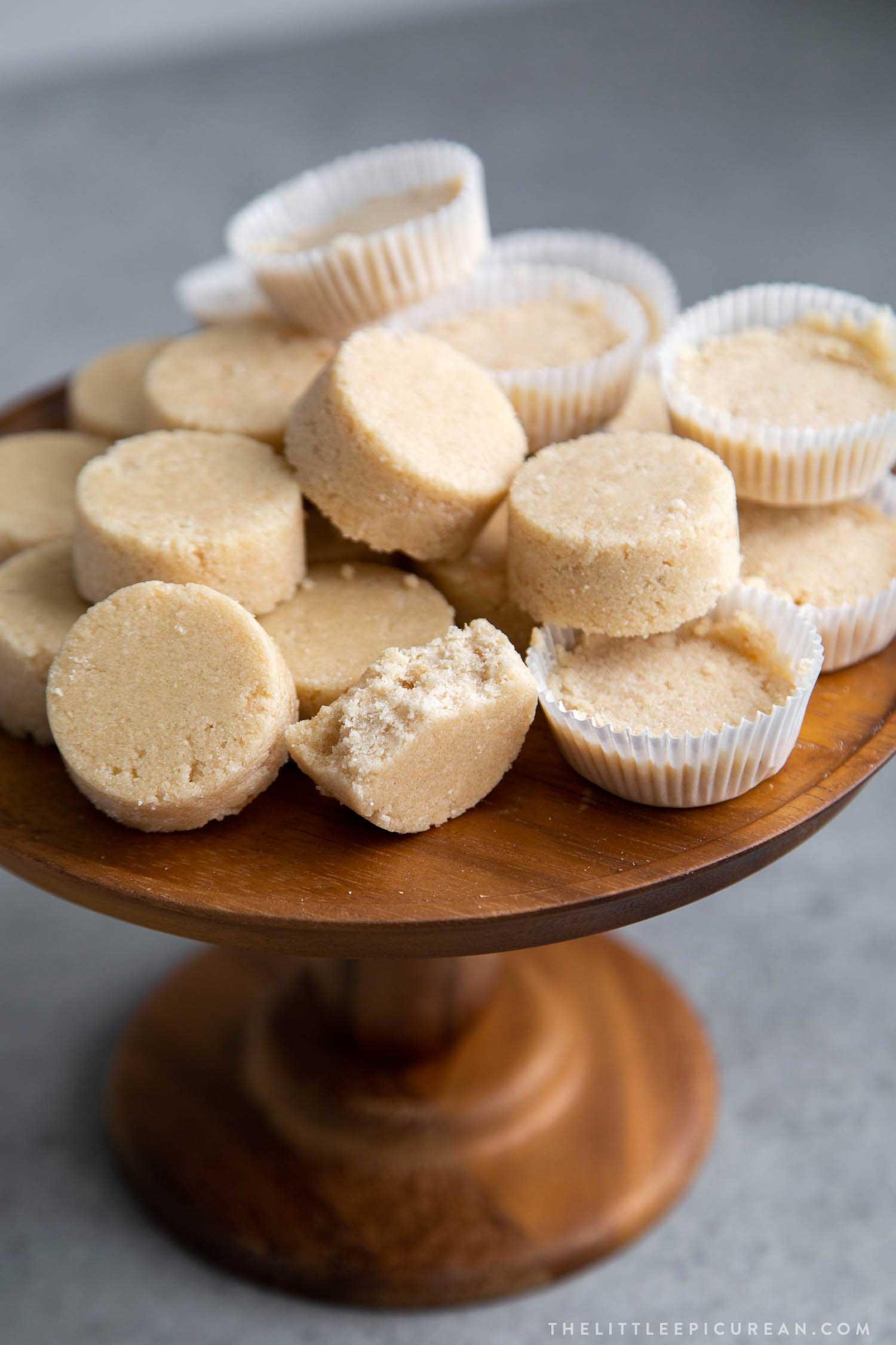 Filipino Polvoron Shortbread Cookies