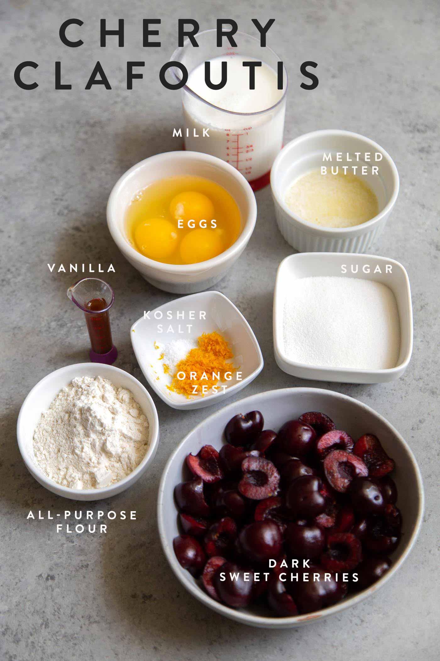 Cherry Clafoutis Ingredients