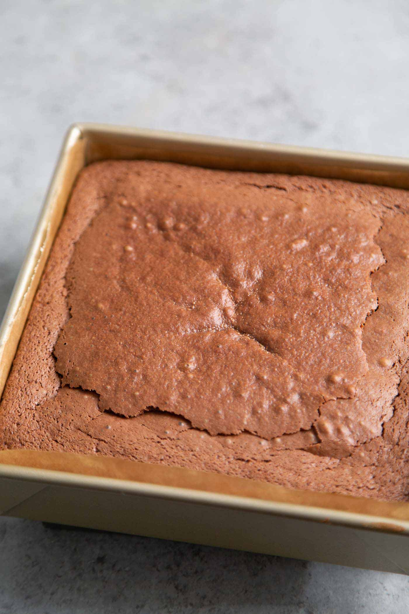 Chocolate Butter Mochi Cake