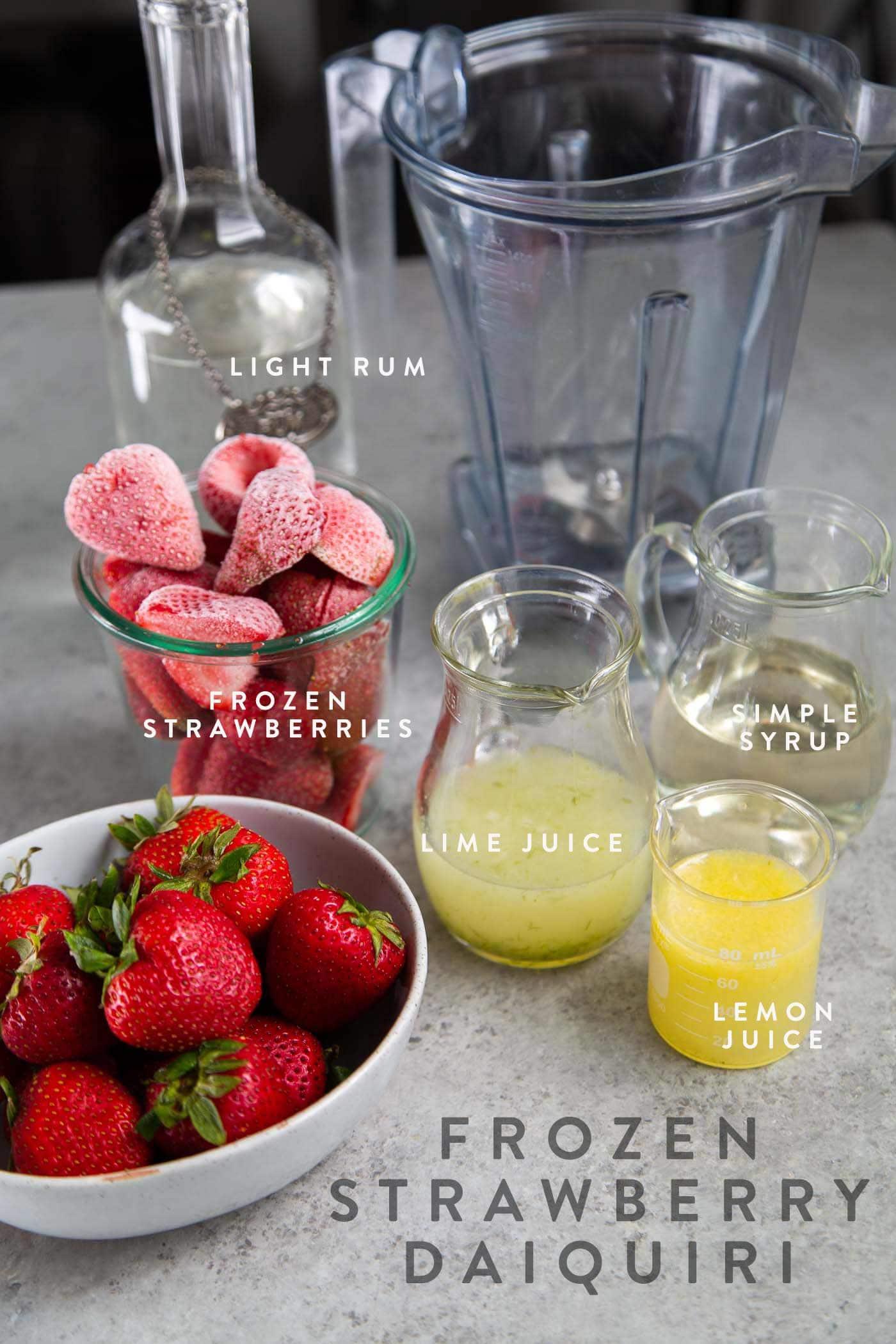 Frozen Strawberry Daiquiri Ingredients