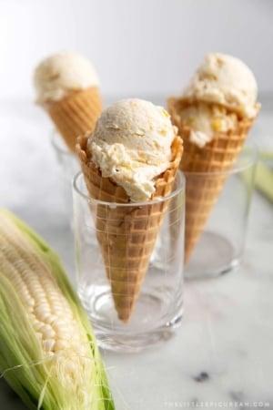 Homemade No Churn Corn Ice Cream