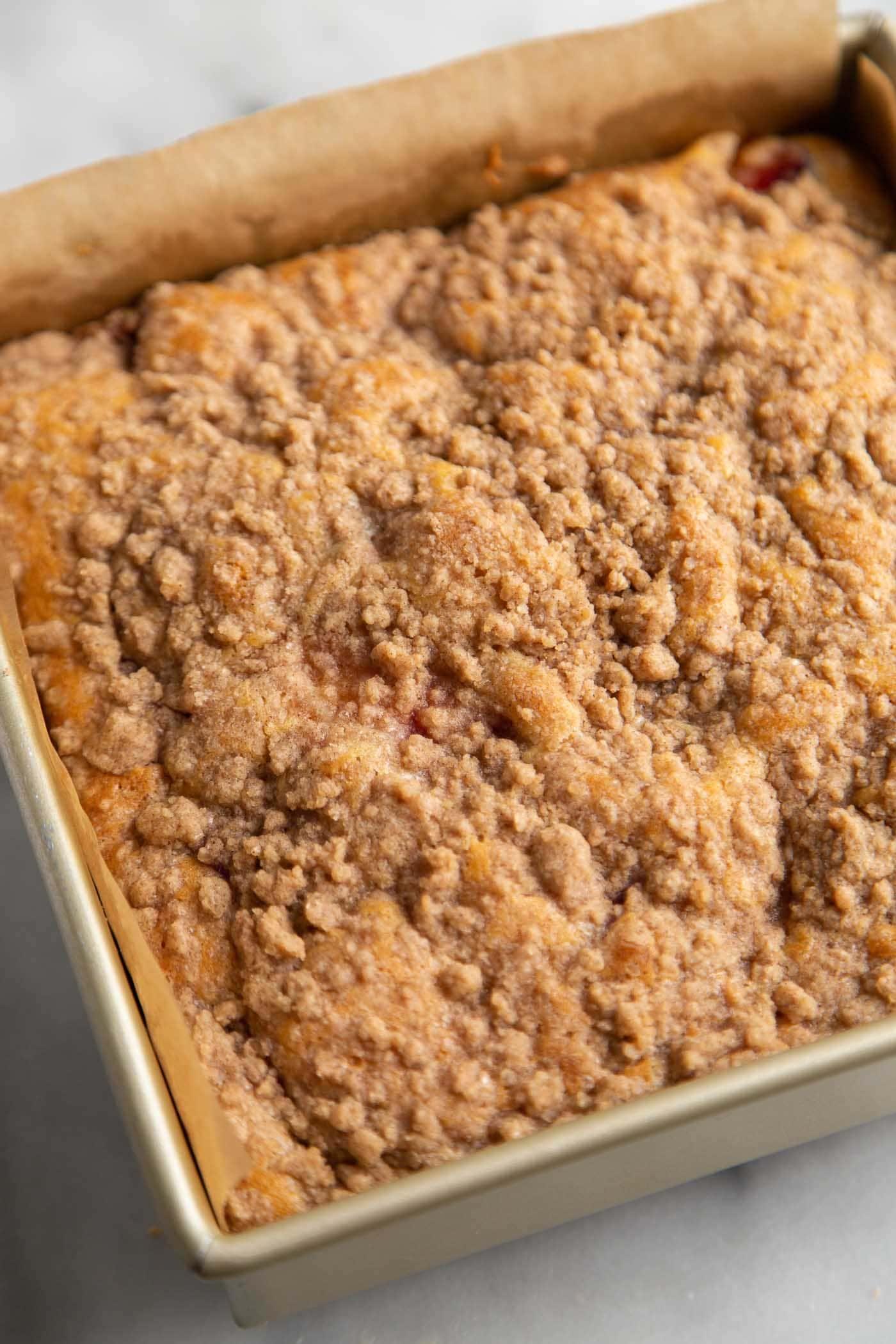 Plumcot Crumb Cake