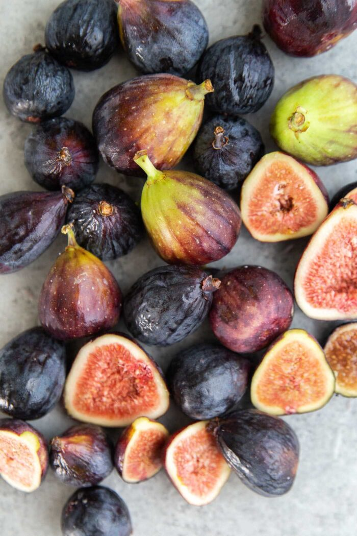 Variety of fresh figs