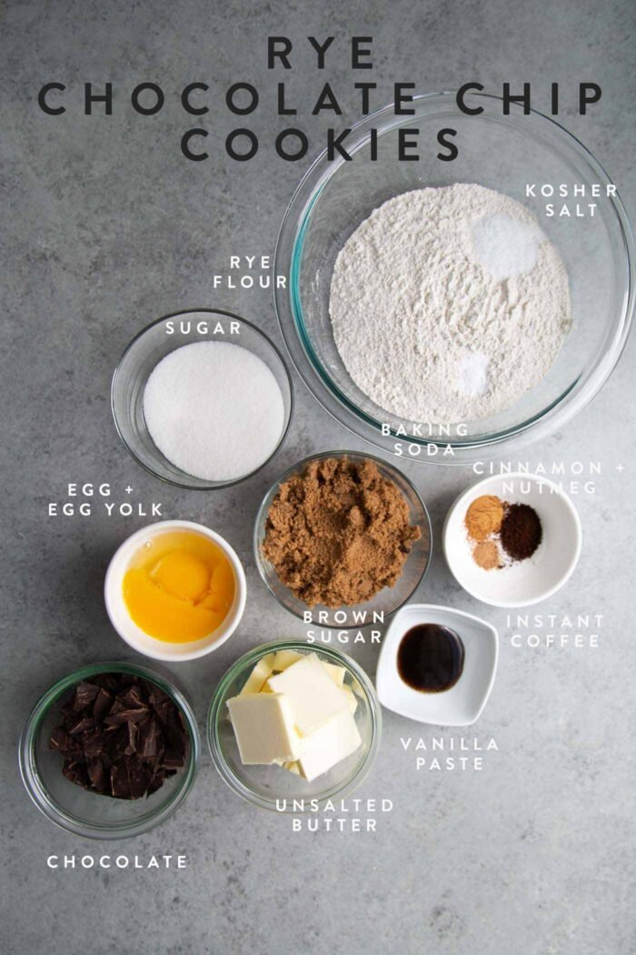 Brown Butter Rye Chocolate Chip Cookies Ingredients