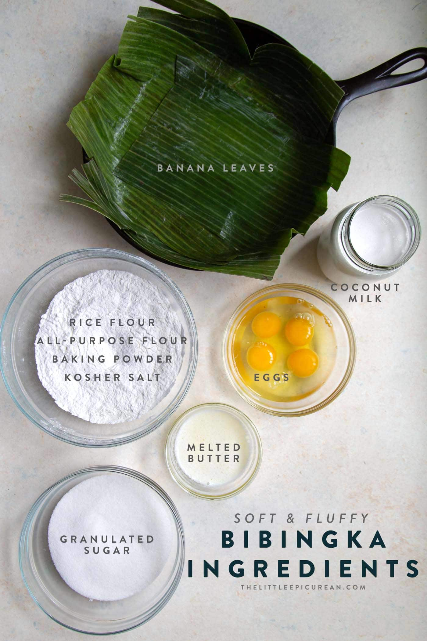 Bibingka Coconut Rice Cake Ingredients