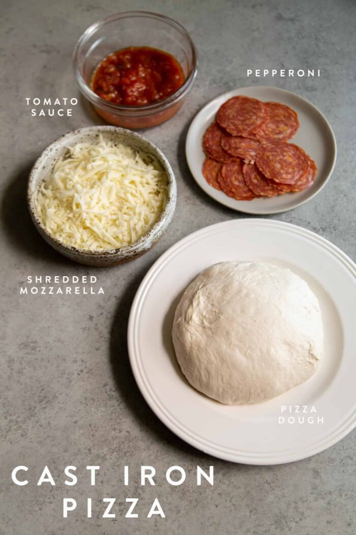Cast Iron Skillet Pizza Ingredients