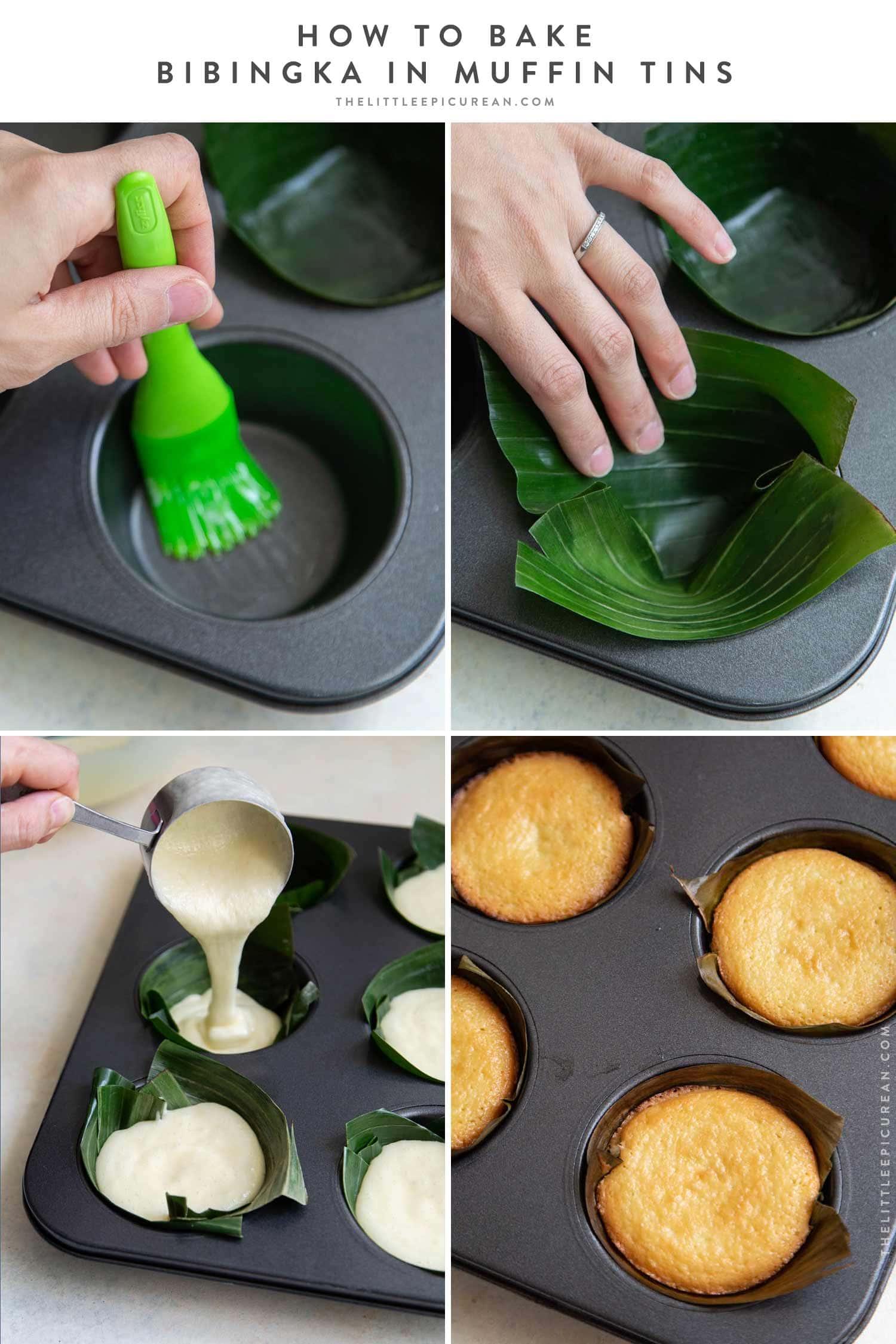Bibingka baked in muffin tin