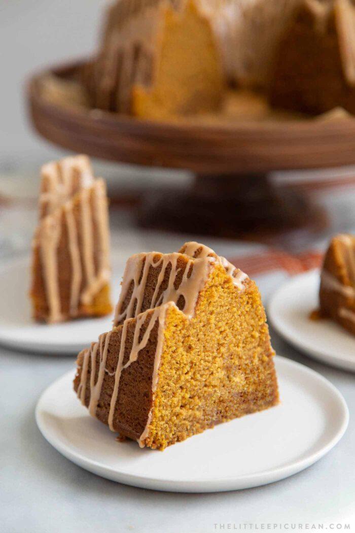 Pumpkin Bundt Cake Slice