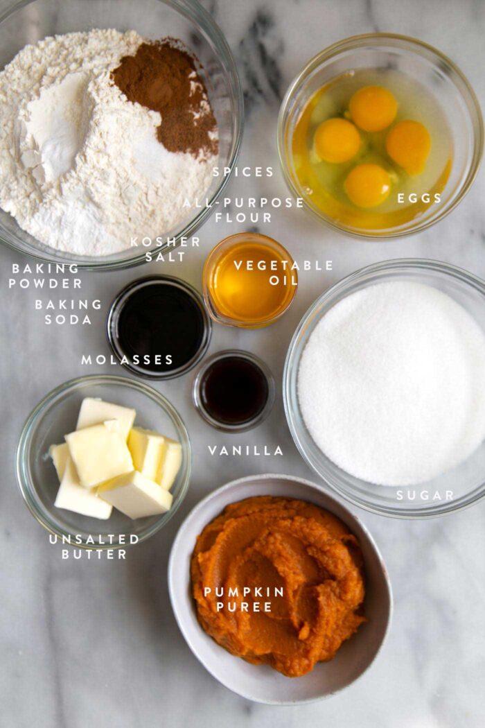 Pumpkin Bundt Cake ingredients