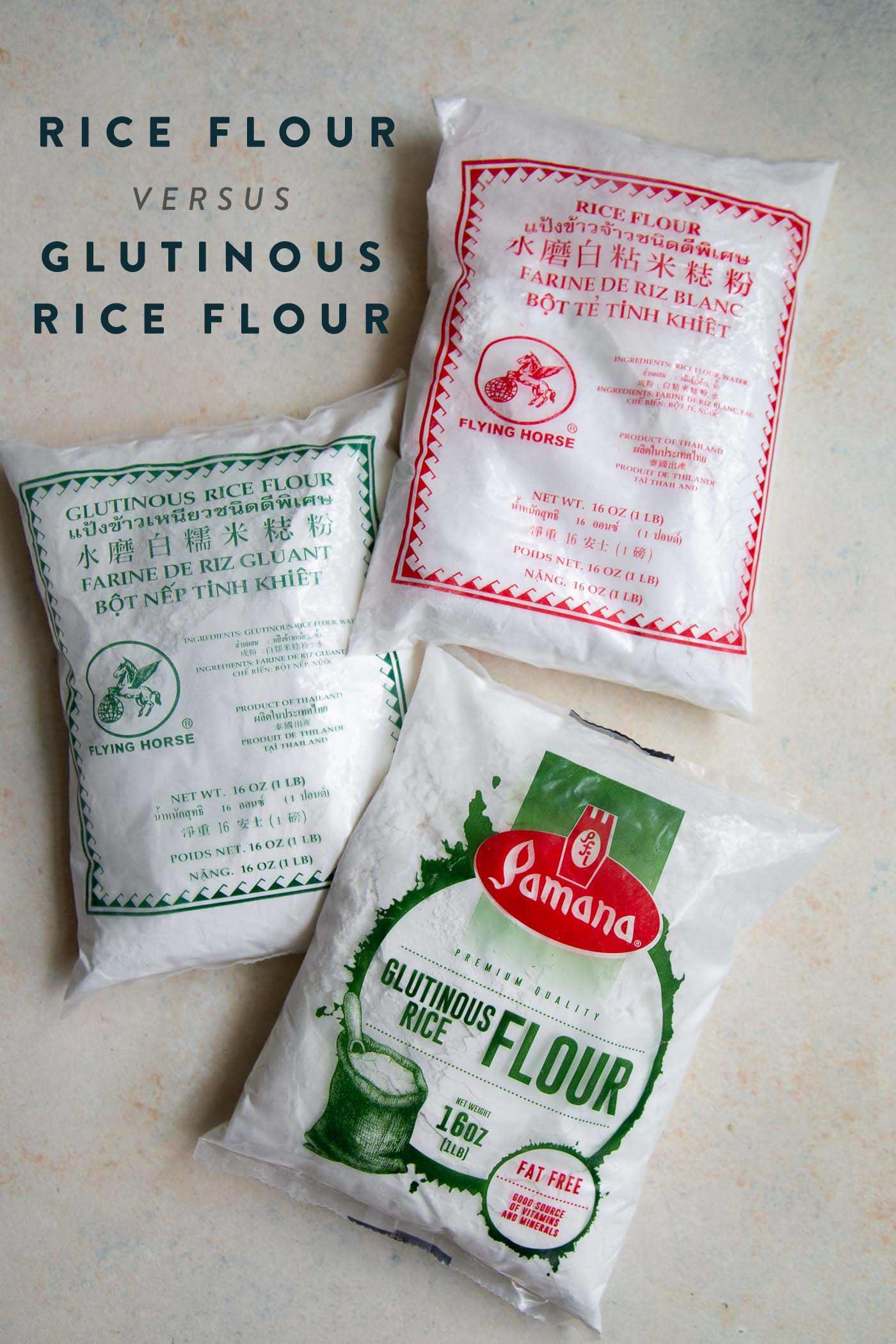 Rice Flour vs Glutinous Rice Flour