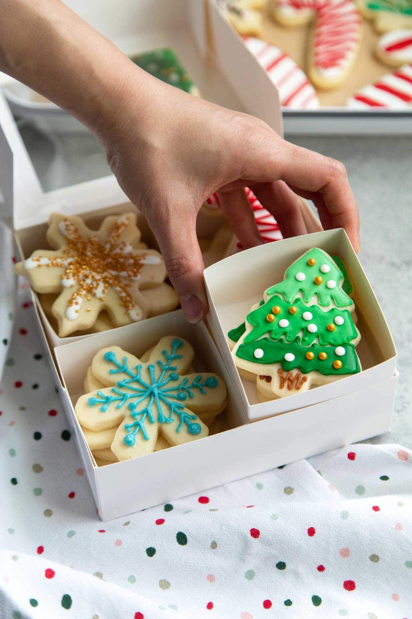 Boxed holiday sugar cookies