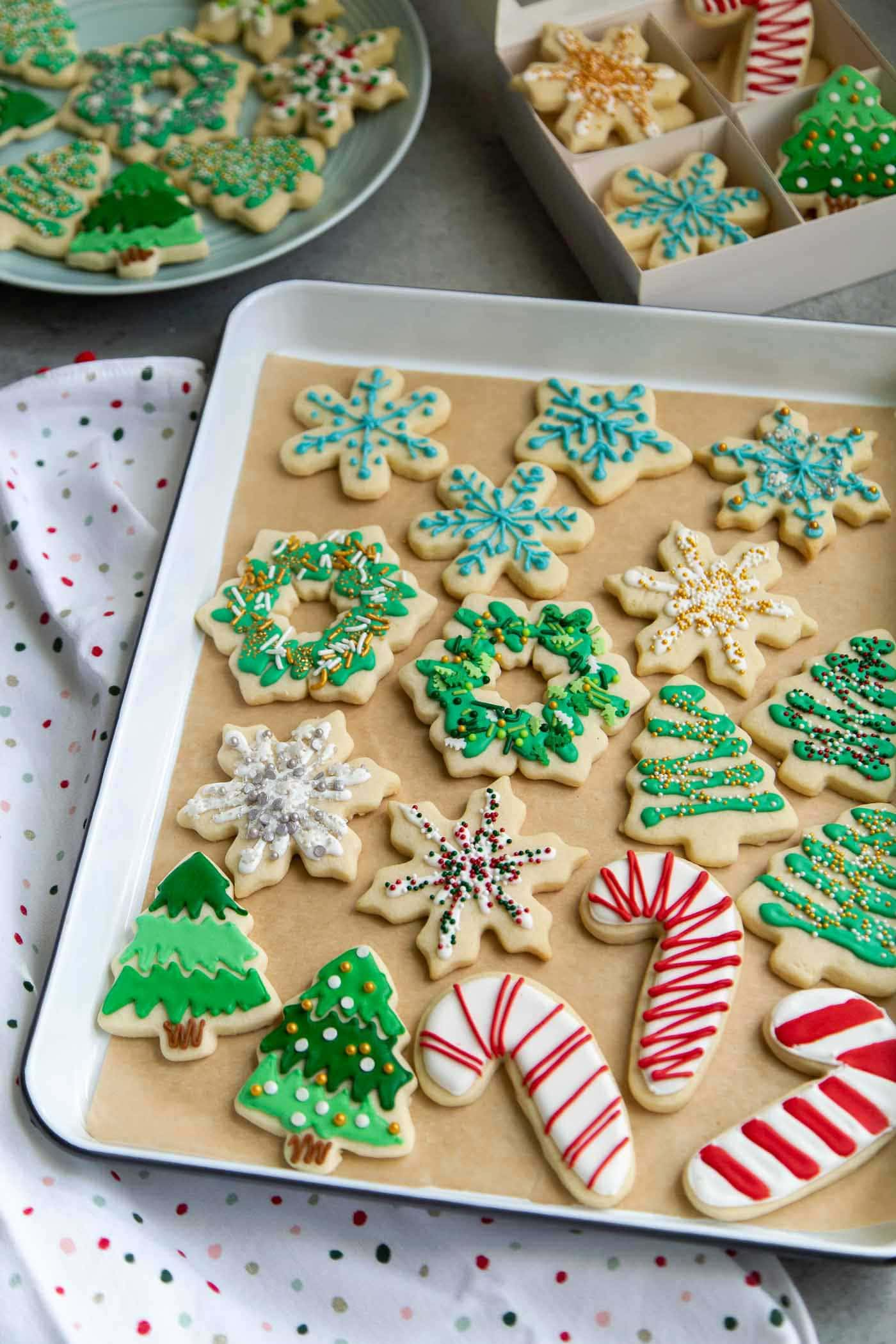 Decorated Holiday Sugar Cookies