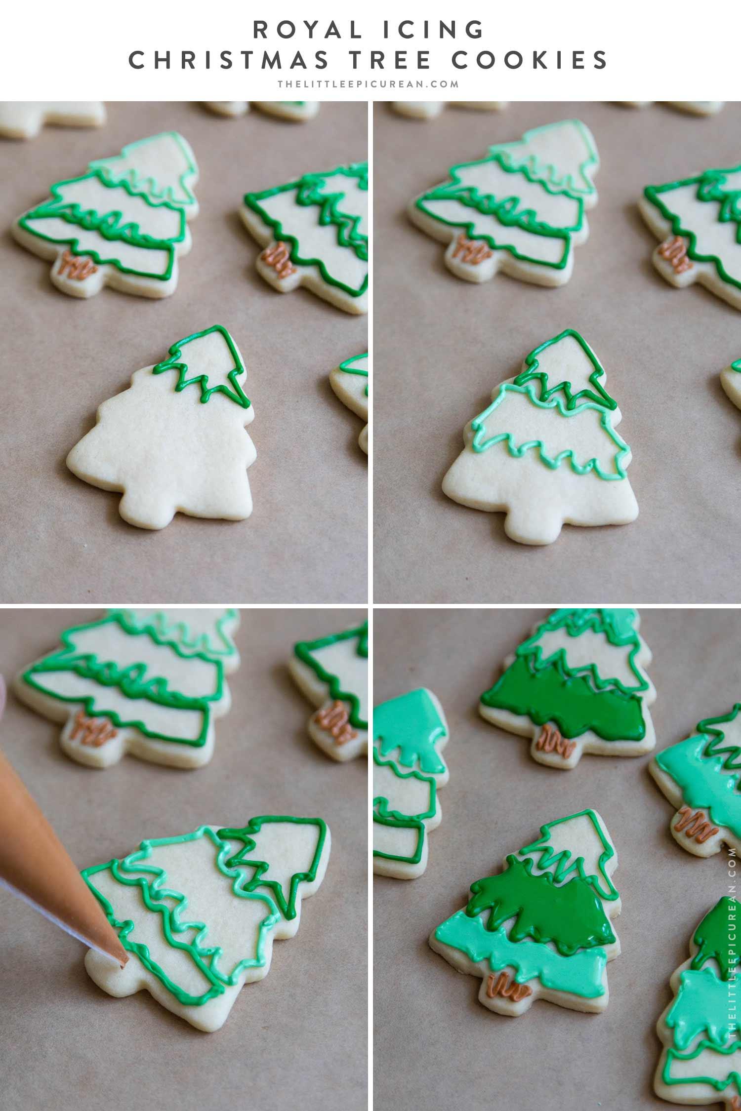Christmas Tree Royal Icing Sugar Cookies