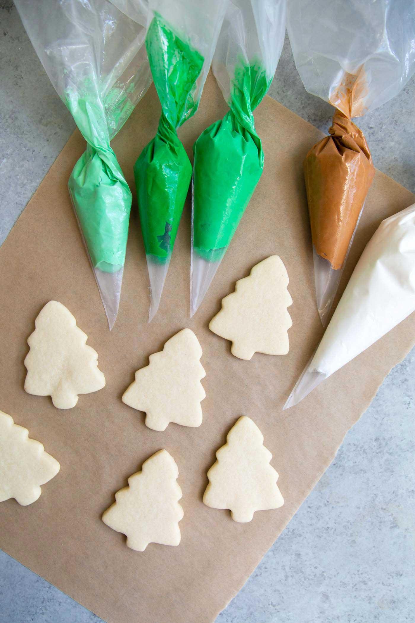 Royal Icing Sugar Cookies Christmas Trees