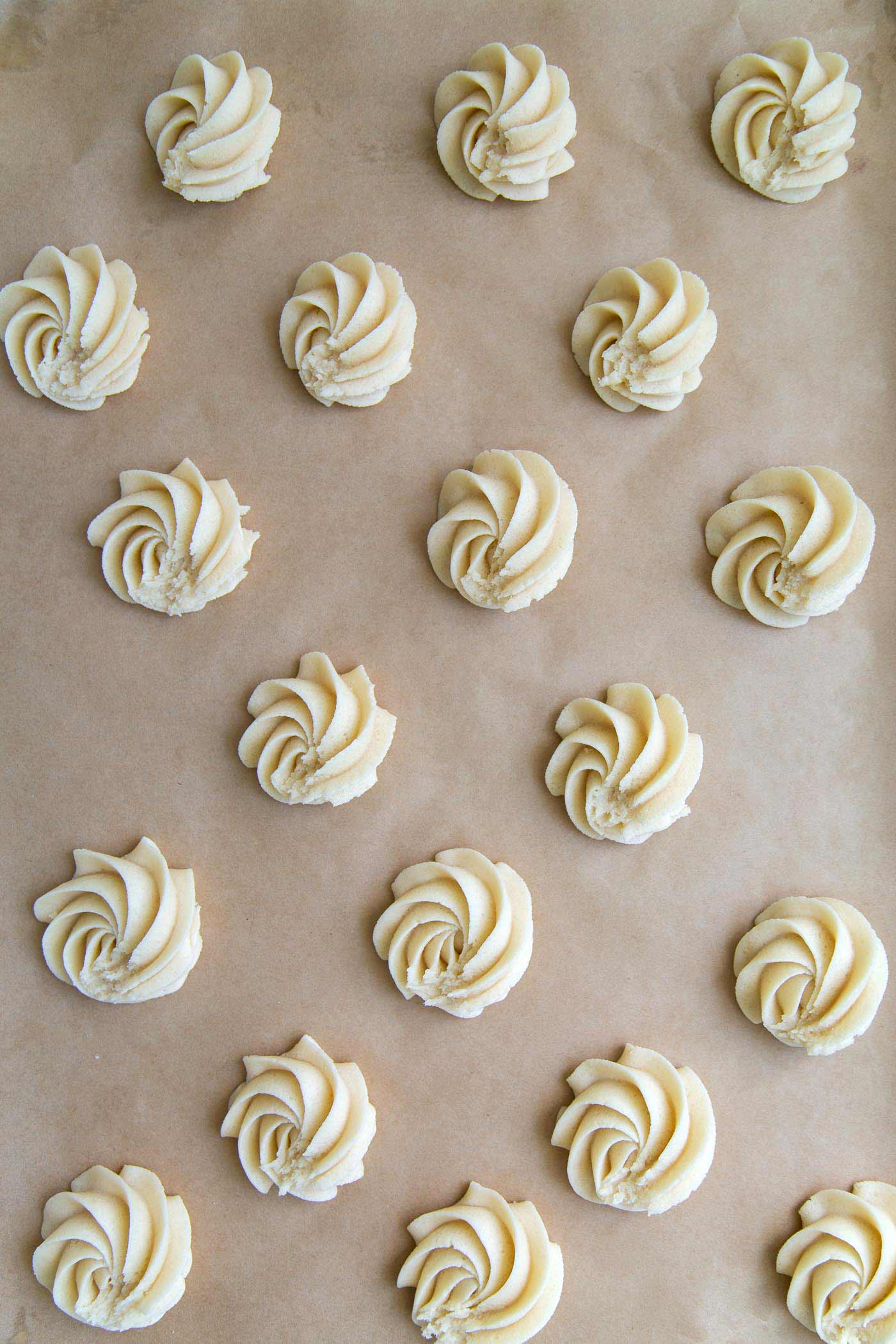 piped Danish butter cookies
