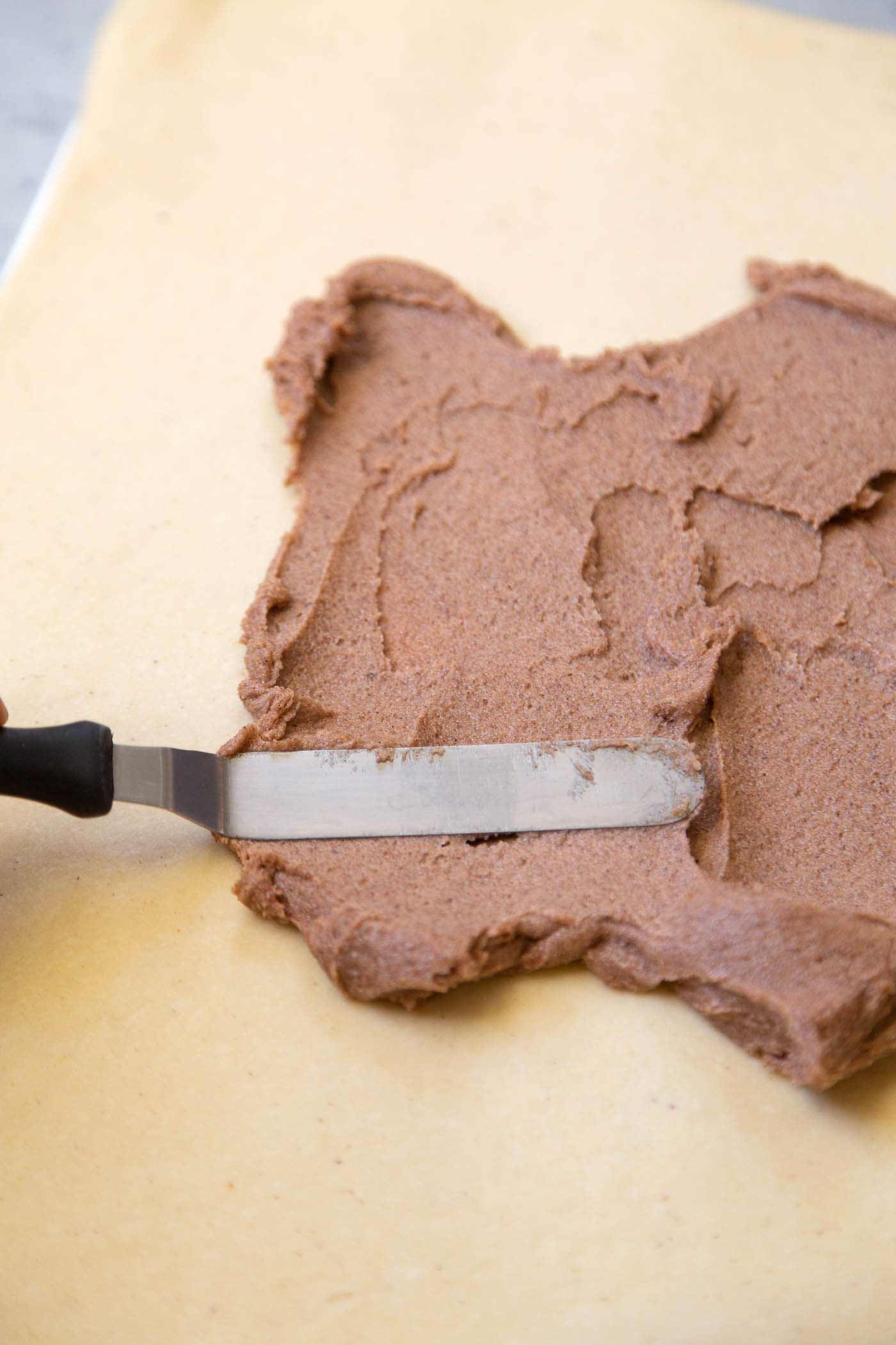 Spiced filing for eggnog cinnamon rolls.