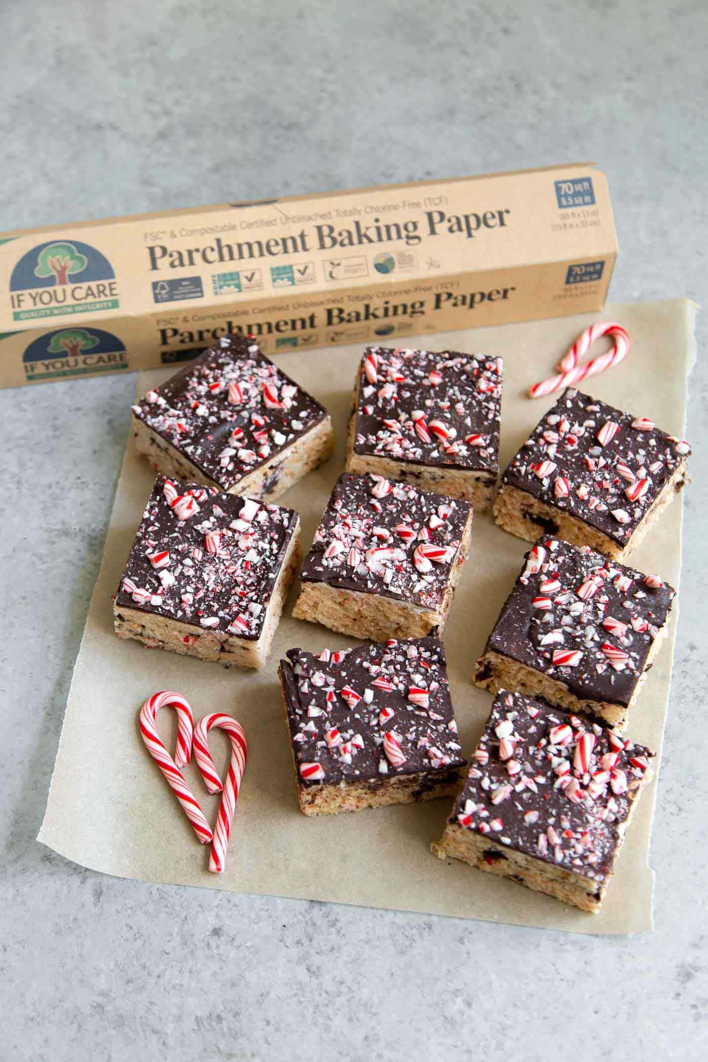 Peppermint Marshmallow Cereal Treat Bars