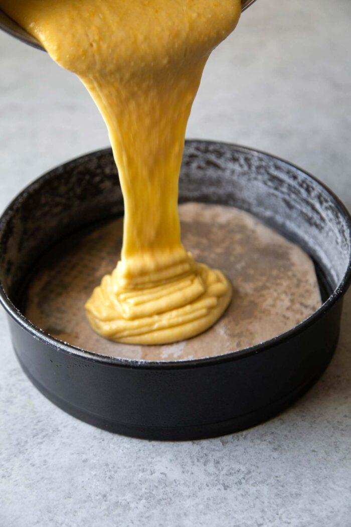 Olive Oil Cake batter