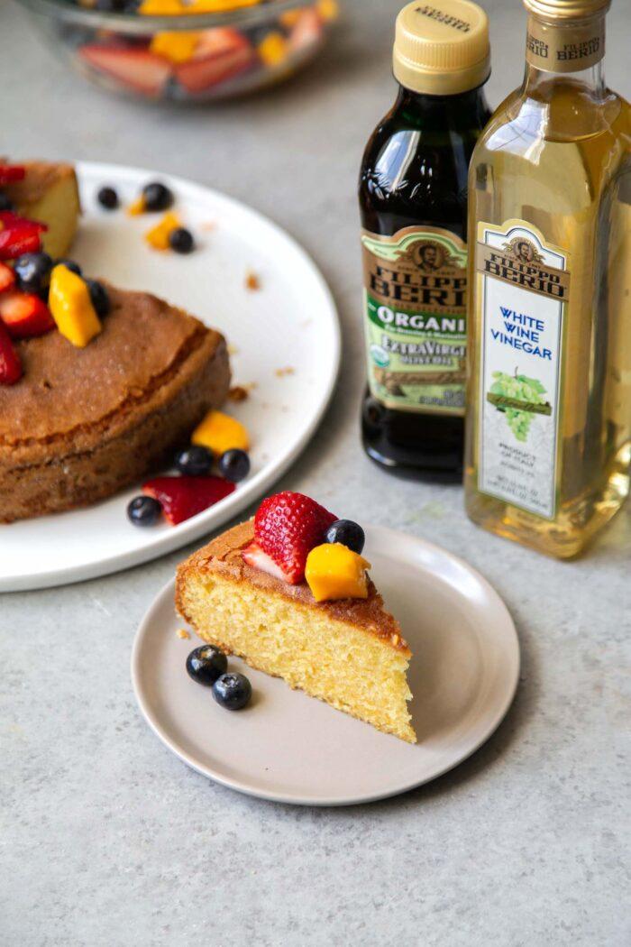 Olive Oil Cake Slice