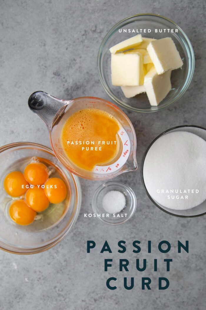 Passion Fruit Curd Ingredients