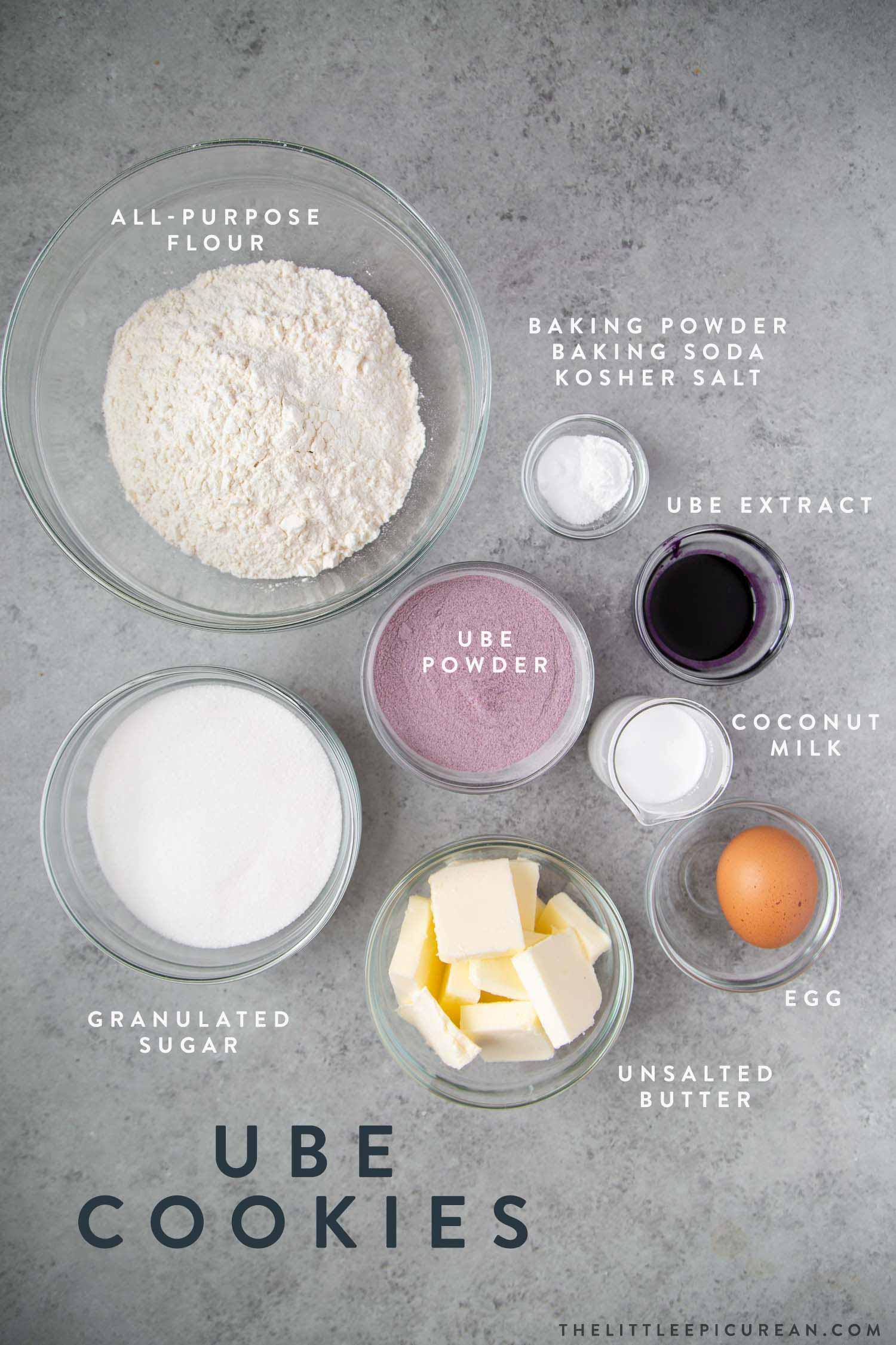 Ube Sugar Cookies Ingredients
