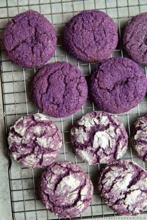 Purple Yam Ube Crinkle Cookies