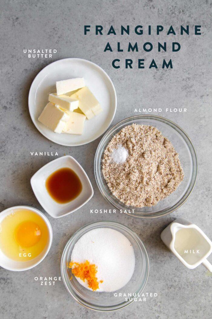 Frangipane almond cream ingredients