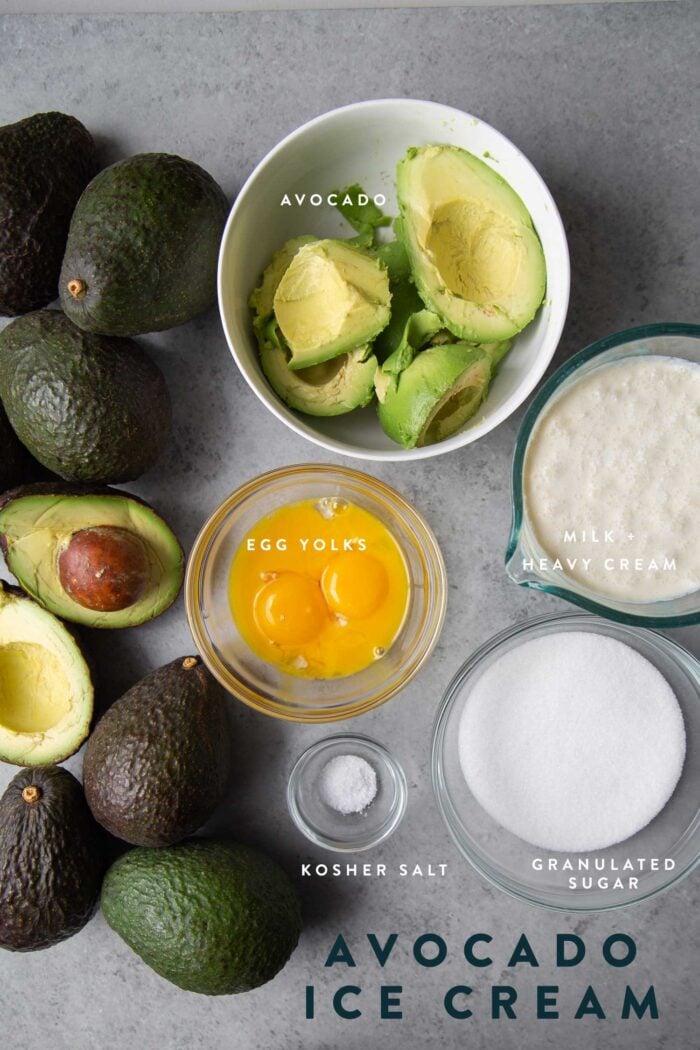 Avocado Ice Cream components