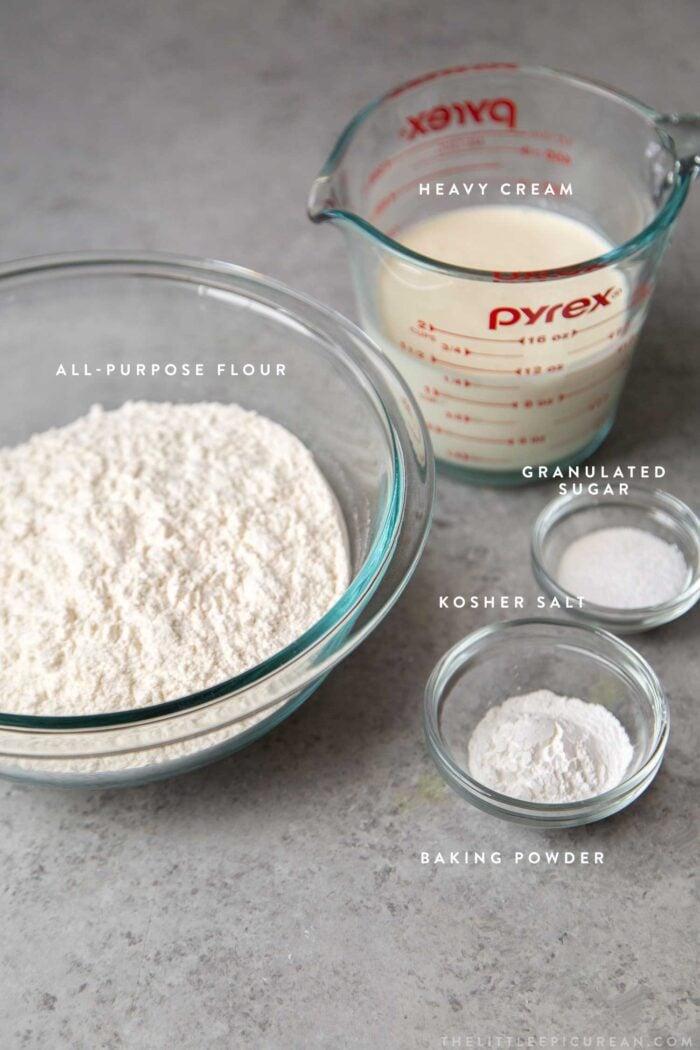 Small Batch Cream Biscuit Ingredients