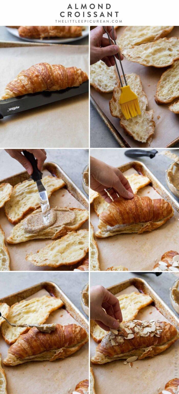 Step by step almond croissant recipe