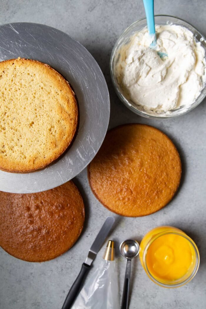 Passion Fruit Cake components