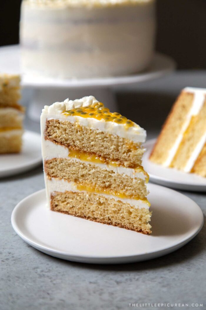 Passion Fruit Cake slice