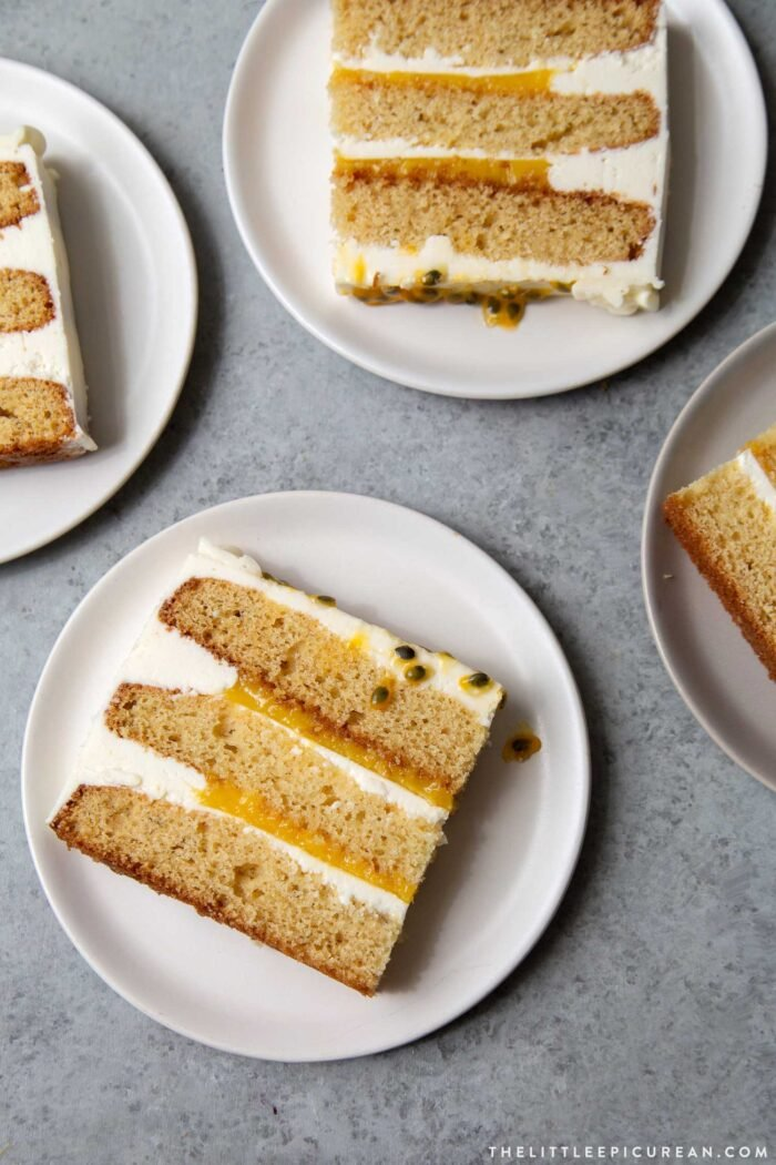 Passion Fruit Cake slices