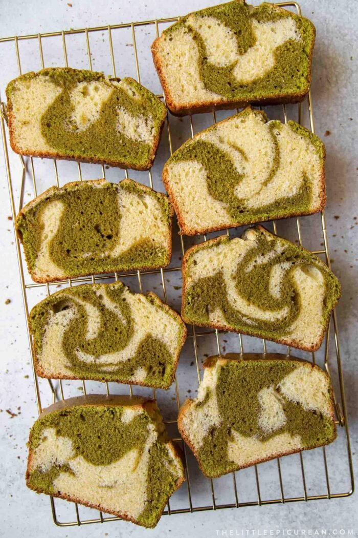 Matcha Marble Pound Cake