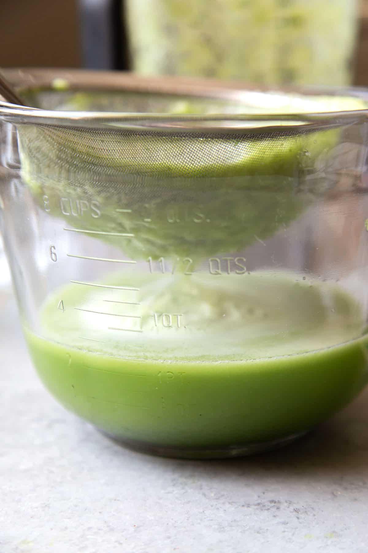 Strained cucumber agua fresca