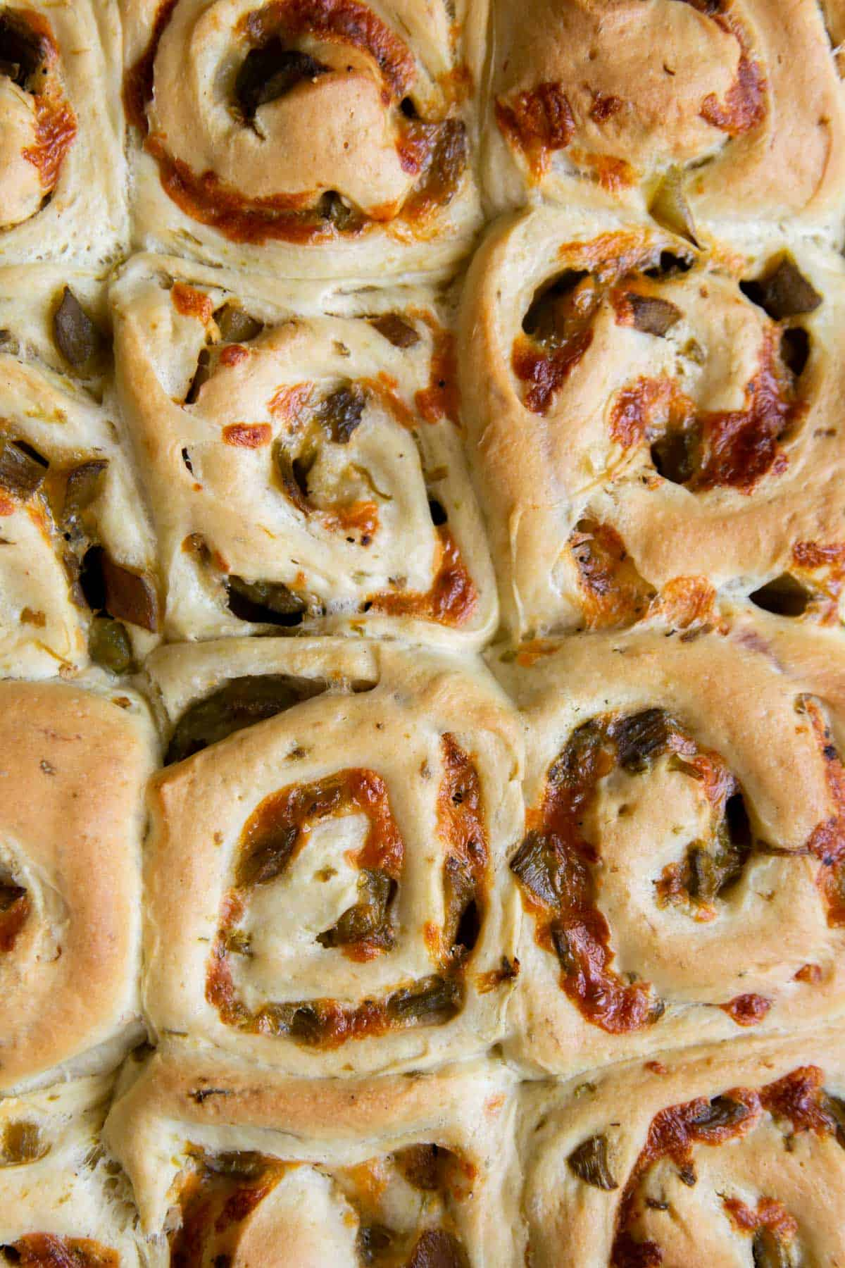New Mexico Green Chile Cheddar Rolls