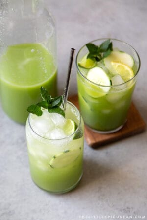 sparkling variation cucumber agua fresca