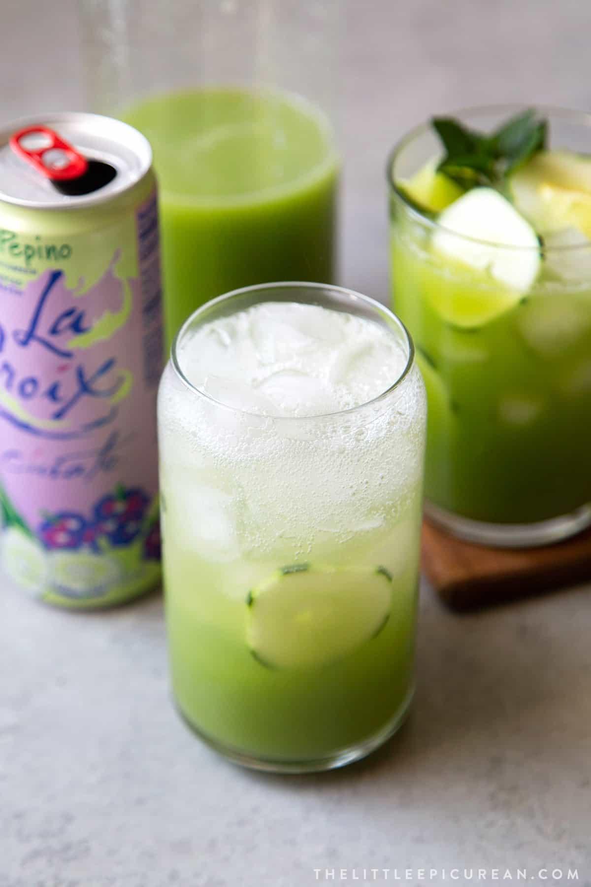 sparkling cucumber agua fresca